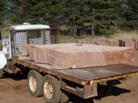 Large Slab on Truck