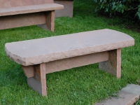Trestle Bench with crescent ends