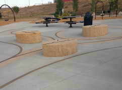 Leaf Benches Installed