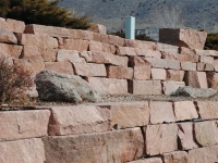 Large block retaining wall