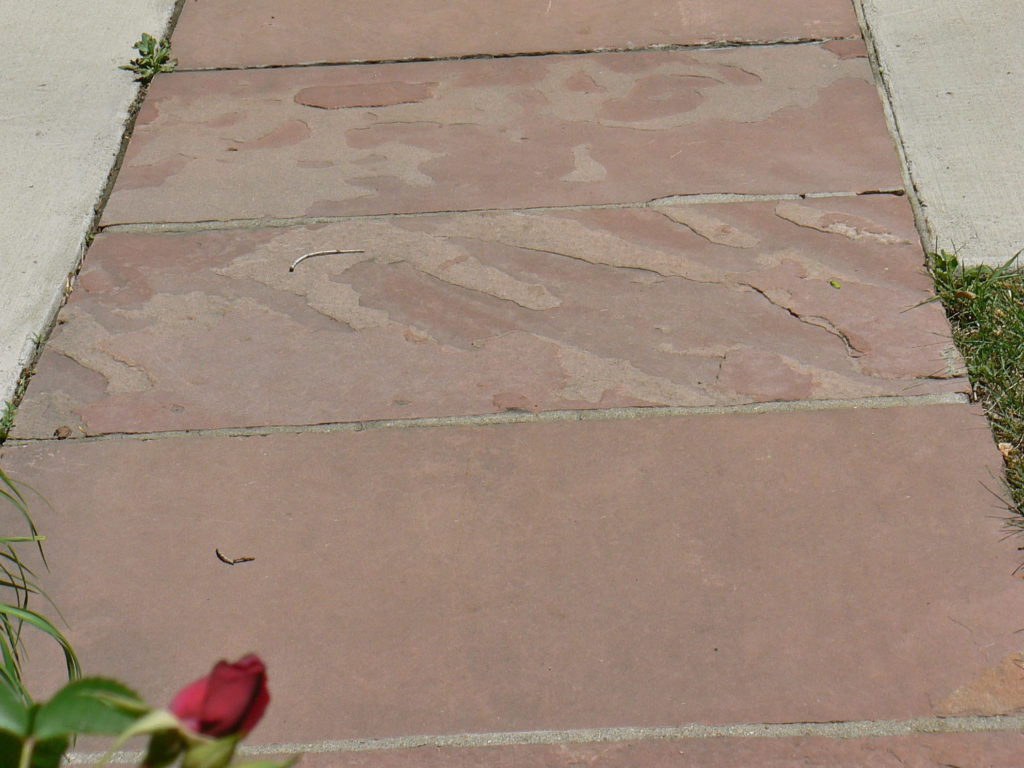 Historic Flagstone Sidewalks in Denver
